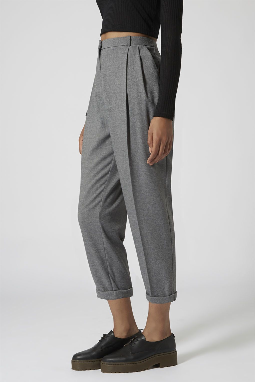 Flannel into dress  Flannel Mensy Crop Trousers  Trousers  Clothing  Topshop  site