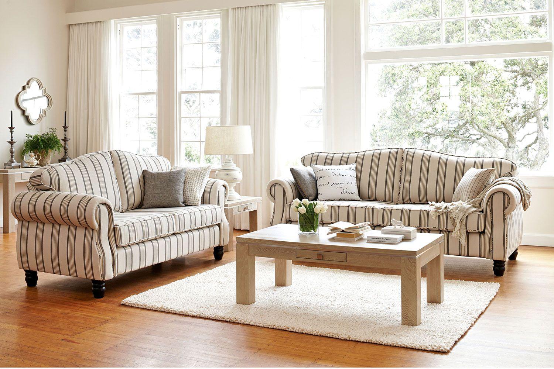 Villa 2 Piece Fabric Lounge Suite by Evan John Philp   Harvey Norman ...