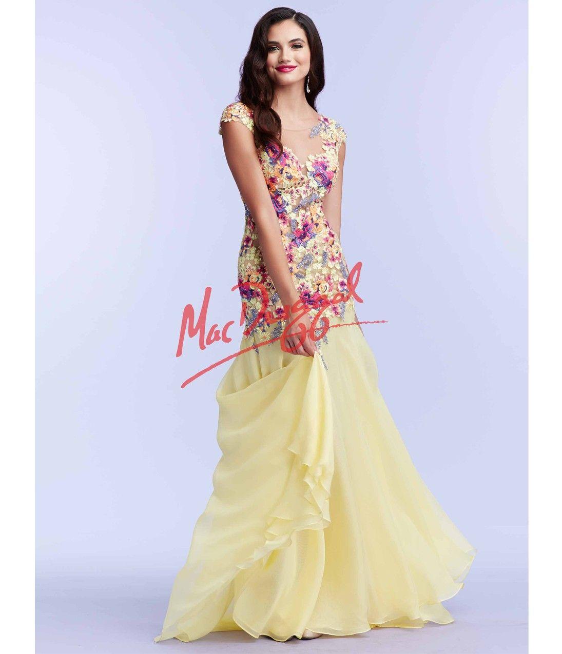 Floral embroidered drop waist yellow dress kobieta sukienki