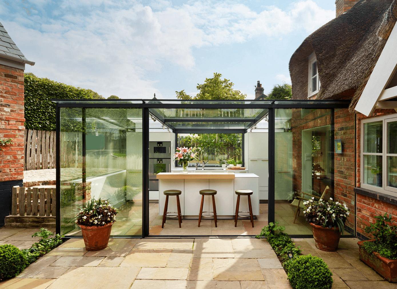 Quaint English Cottage Gets A Modern Kitchen Addition   Http://freshome.com