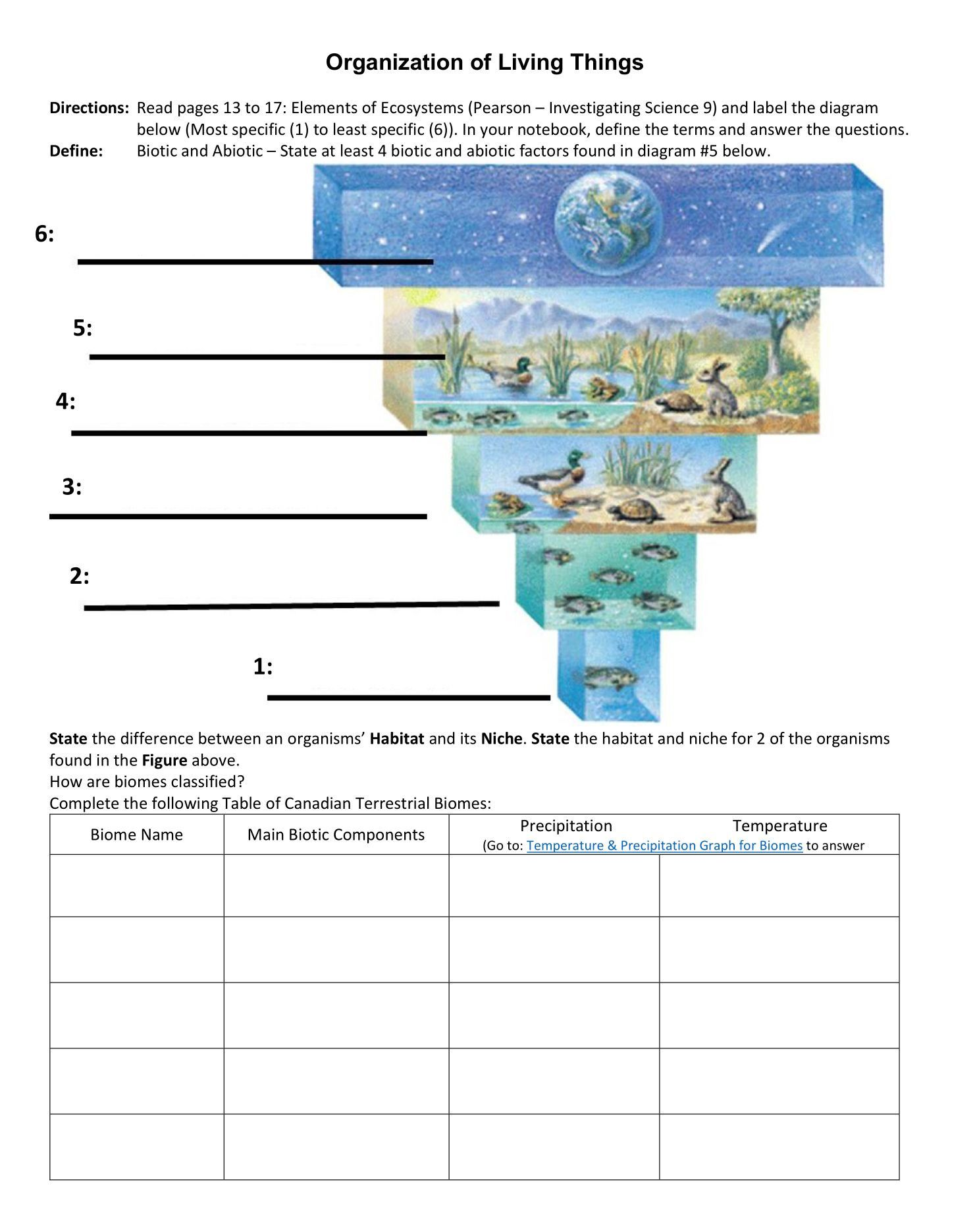 5th Grade Ecosystem Worksheets Ecosystems Social Studies Worksheets Worksheets For Kids