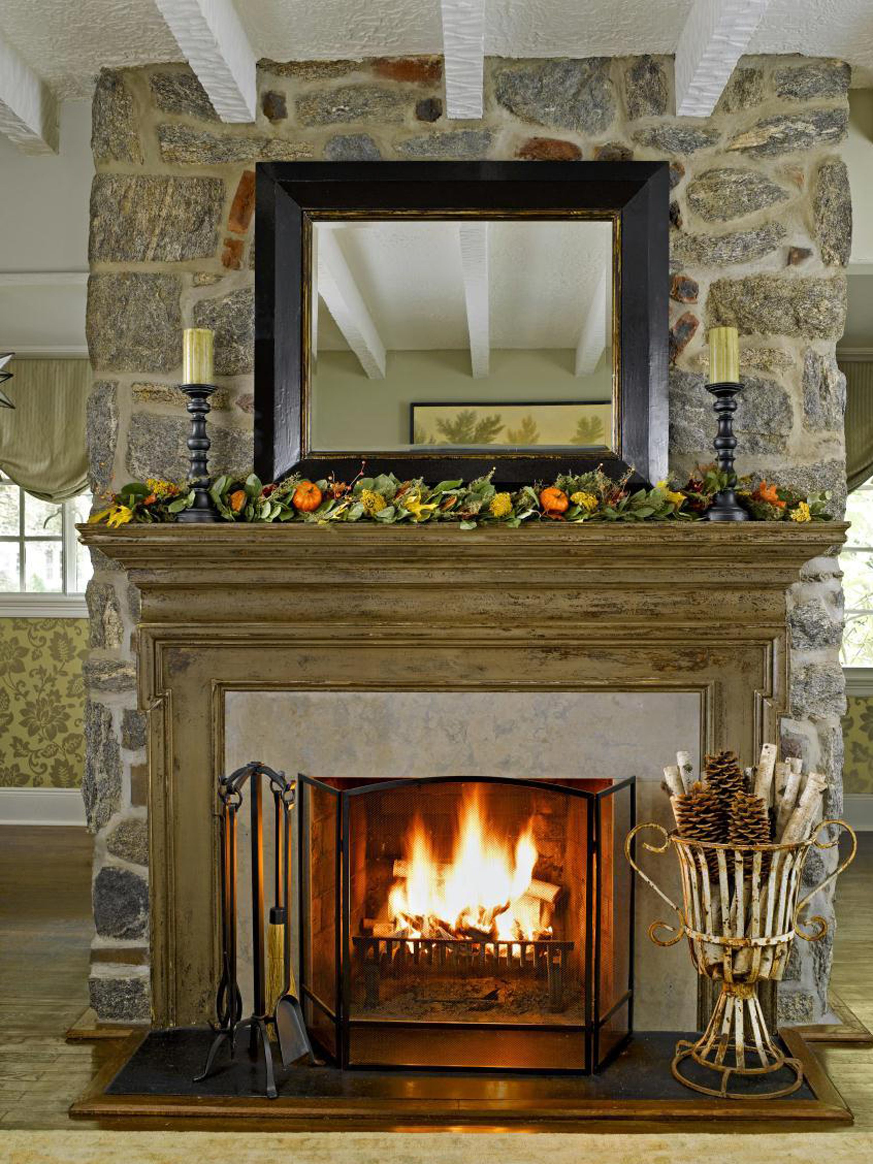 Fall Fireplace Mantel Decorating Ideas: 35 Absolutely Stunning Ways To Decorate Your Mantel For