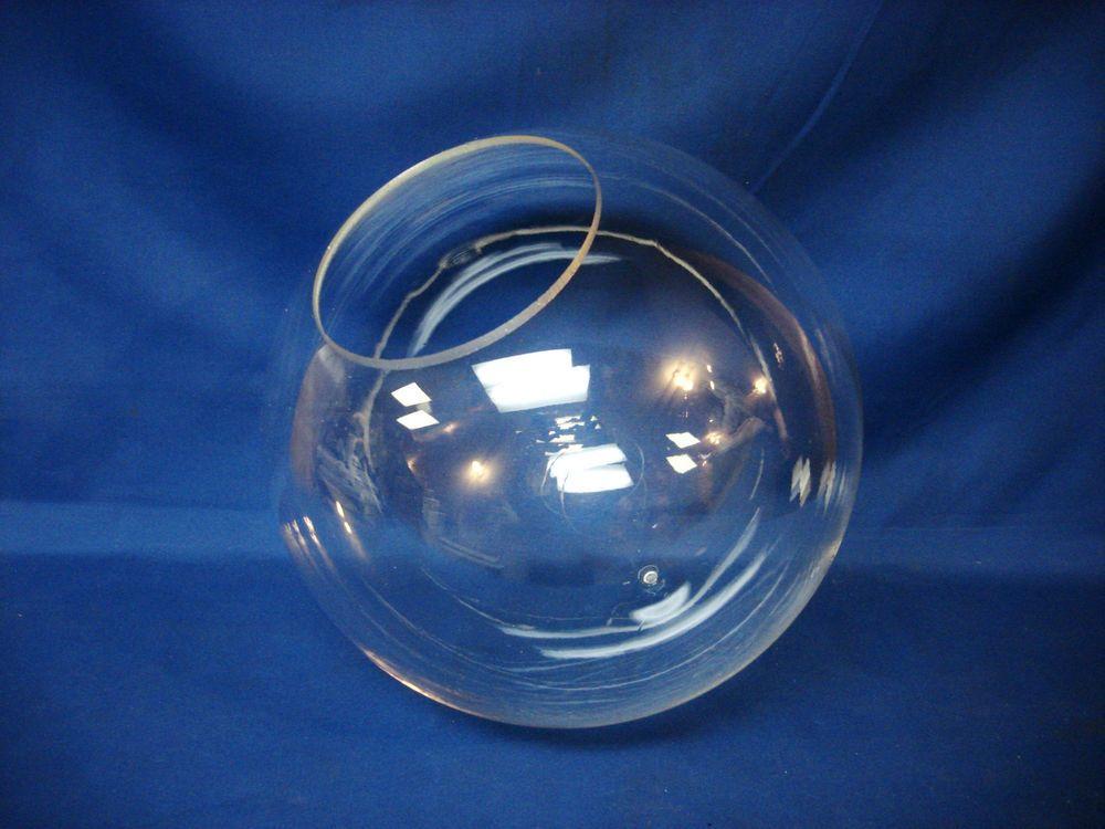 12 Acrylic Clear Plastic Round Globe Lamp Light Fixture 5 1 4 Hole Opening New