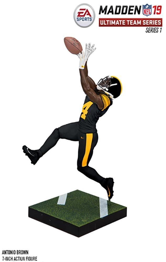 2df3baba8 NFL Madden 19 Ultimate Team Series 1 - Pittsburgh Steelers Antonio Brown  Action Figure