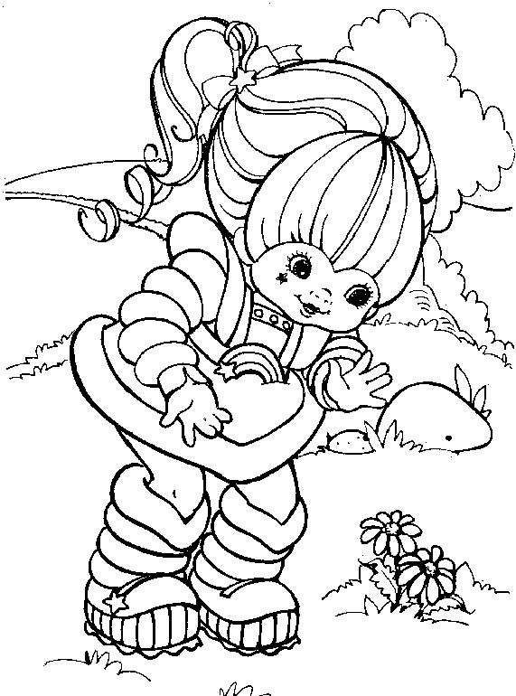 Rainbow Brite Online Coloring Pages printable coloring