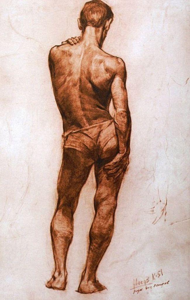 model art drawing male Nude