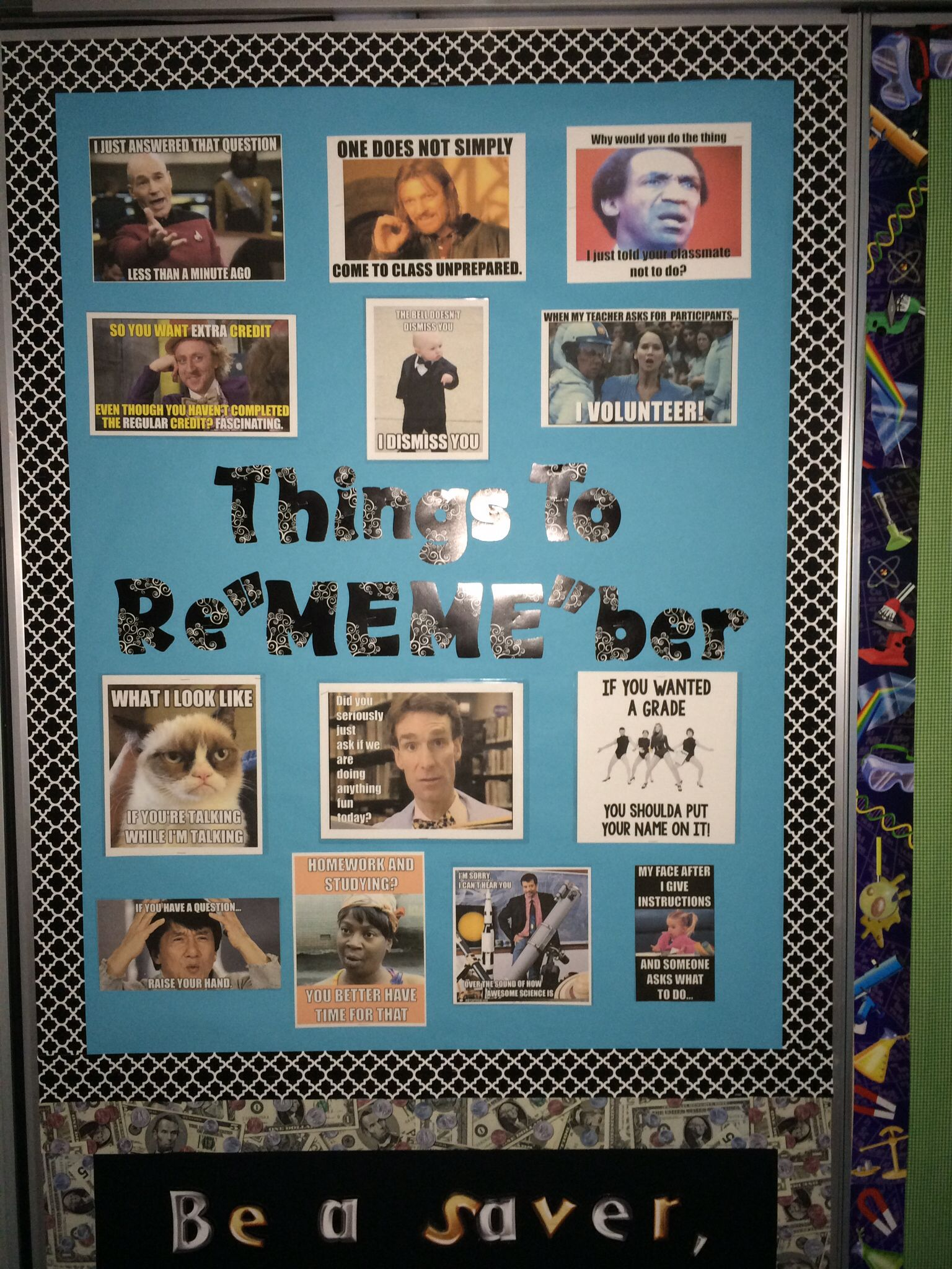 Using my favorite Memes as a Rules board  I still need to