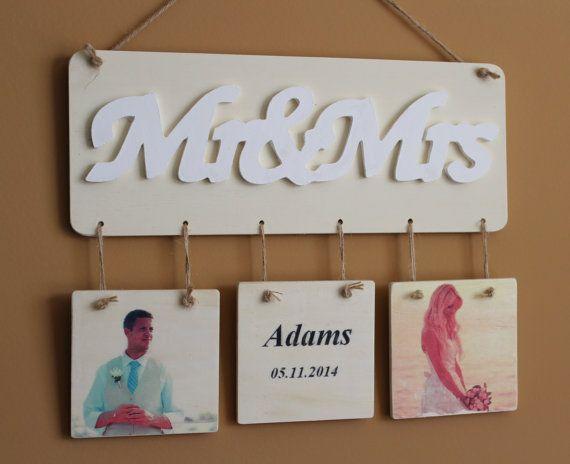 Rustic Custom Photo Custom Text Wall Decor Wall Hanging Your Wedding Photo Wall Art Wedding Gift Anniversary Gift  Mothers Day Gift