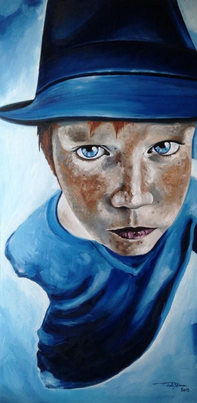 "Oil painting by Rebecca Tecla ""Distrust"""