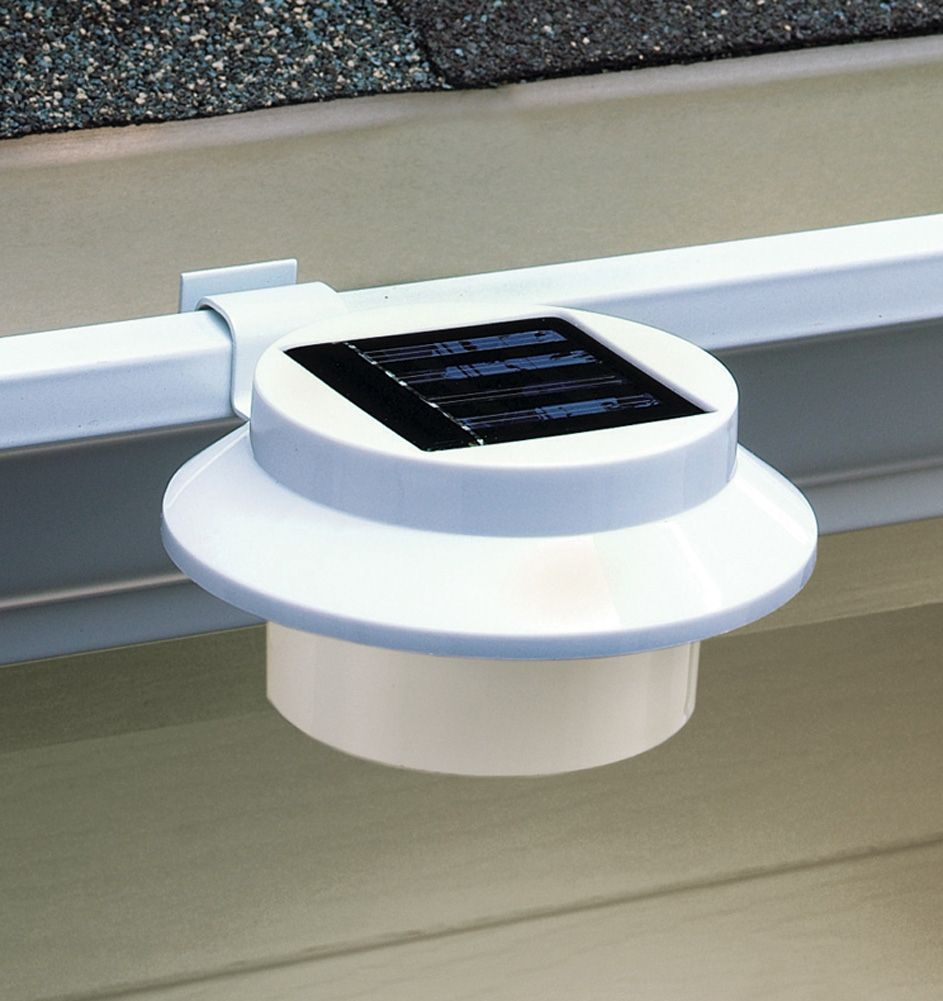 Rain Gutter Solar Lights | Solar Rain Gutter Clip On Outdoor Light