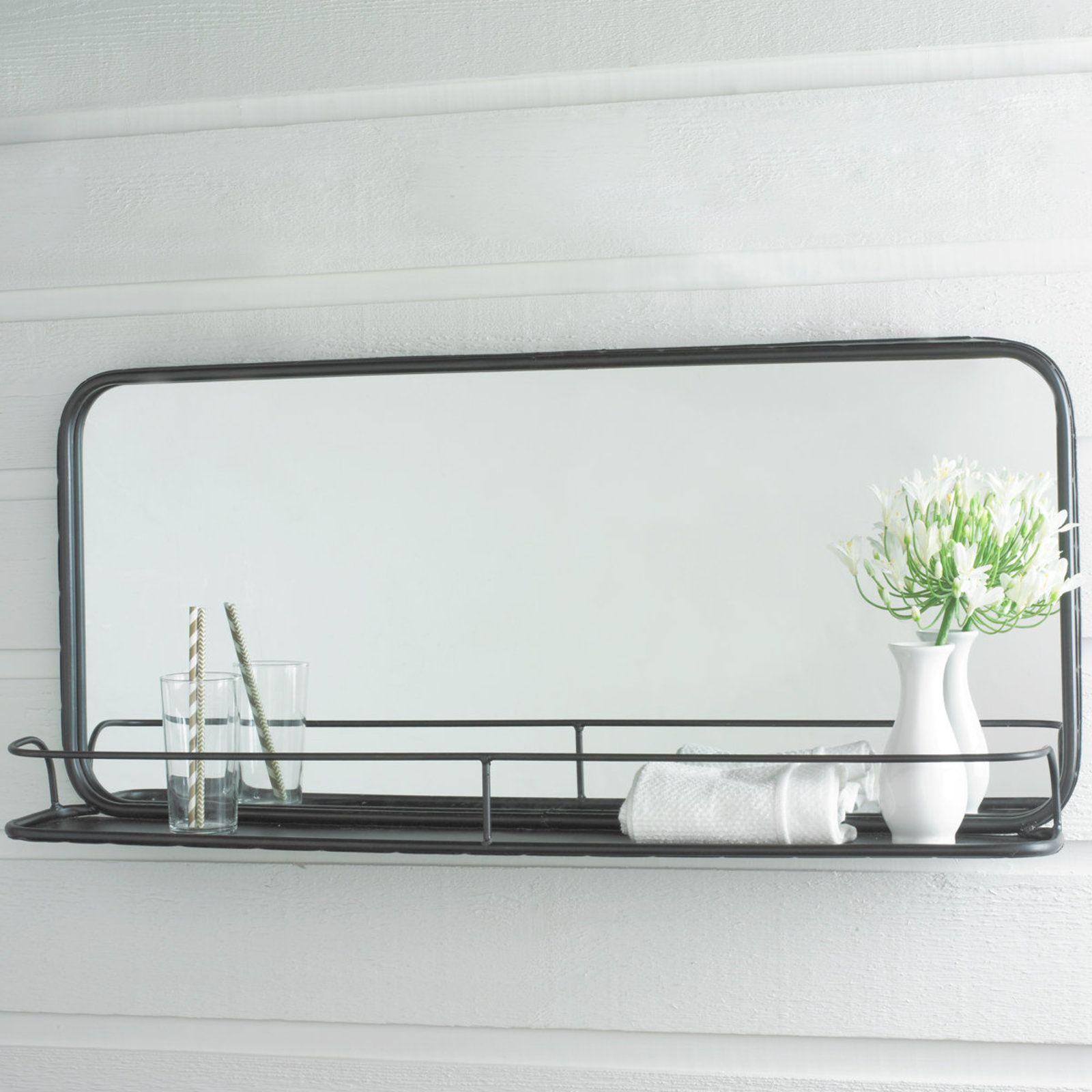 Metal Mirror With Shelf Large Bathroom Mirrors Diy Bathroom