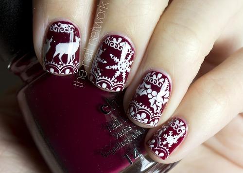 Nail art, winter, christmas, nail, beautiful, nice