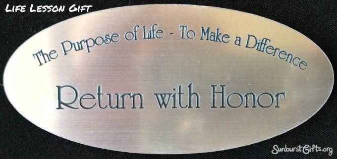 Make A Plaque Of The Purpose Life