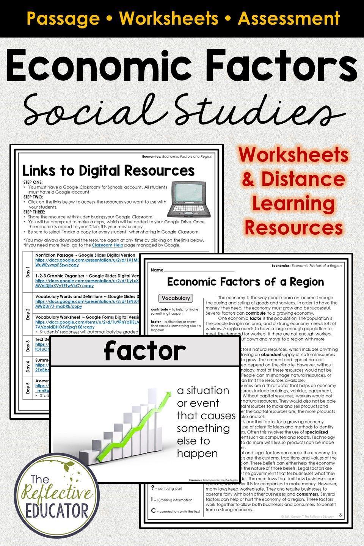 Economic Factors of a Region for Google Classroom™   Distance Learning   Social  studies worksheets [ 1440 x 960 Pixel ]