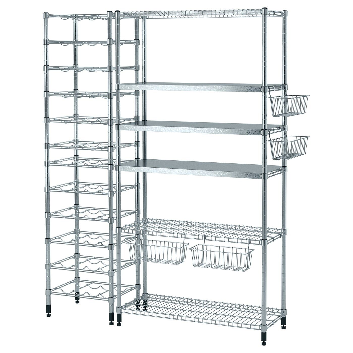 Omar 3 Shelf Sections 59x19 1 4x71 1 4