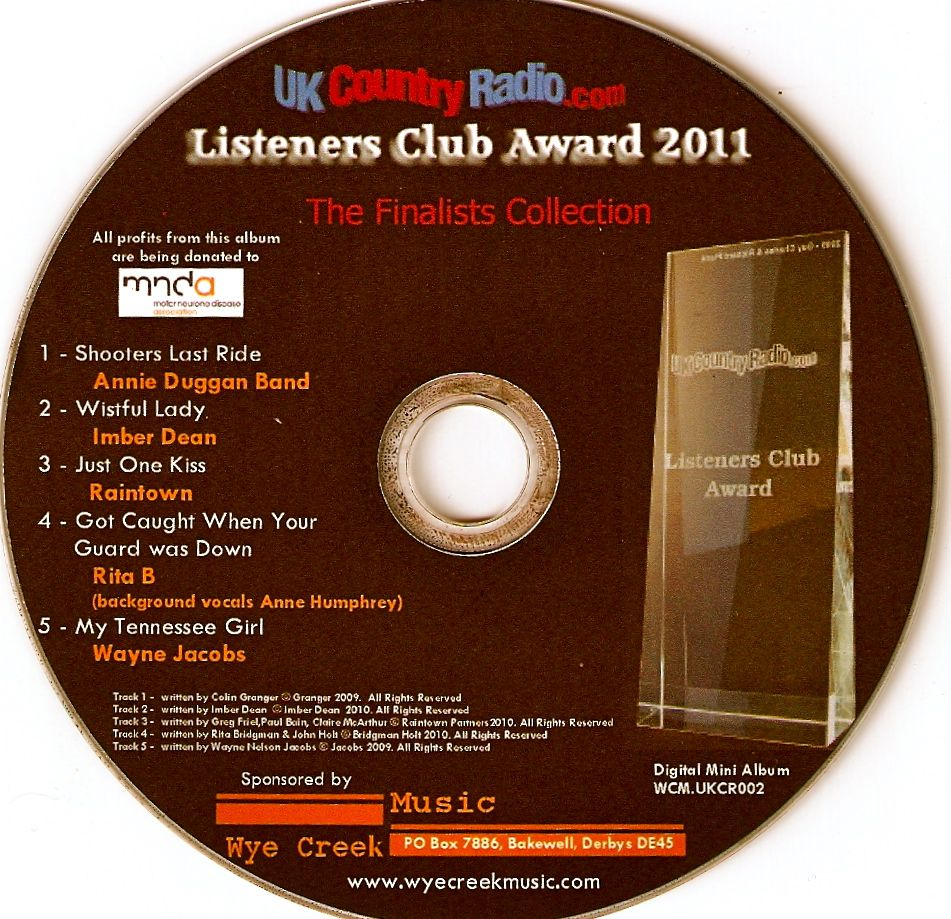 Semi Finals uk countryradio.com 2011 Listeners Club Award with My Tennessee