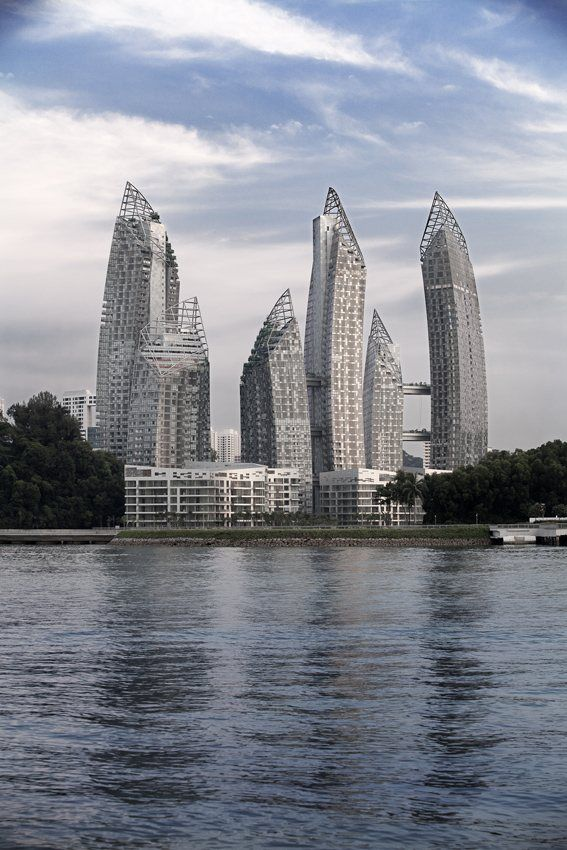 reflections at keppel bay    2011 by libeskind  towers