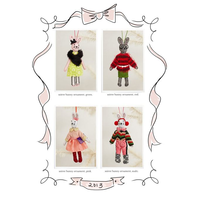 soiree bunnies. camp home for anthropologie holiday 2013!