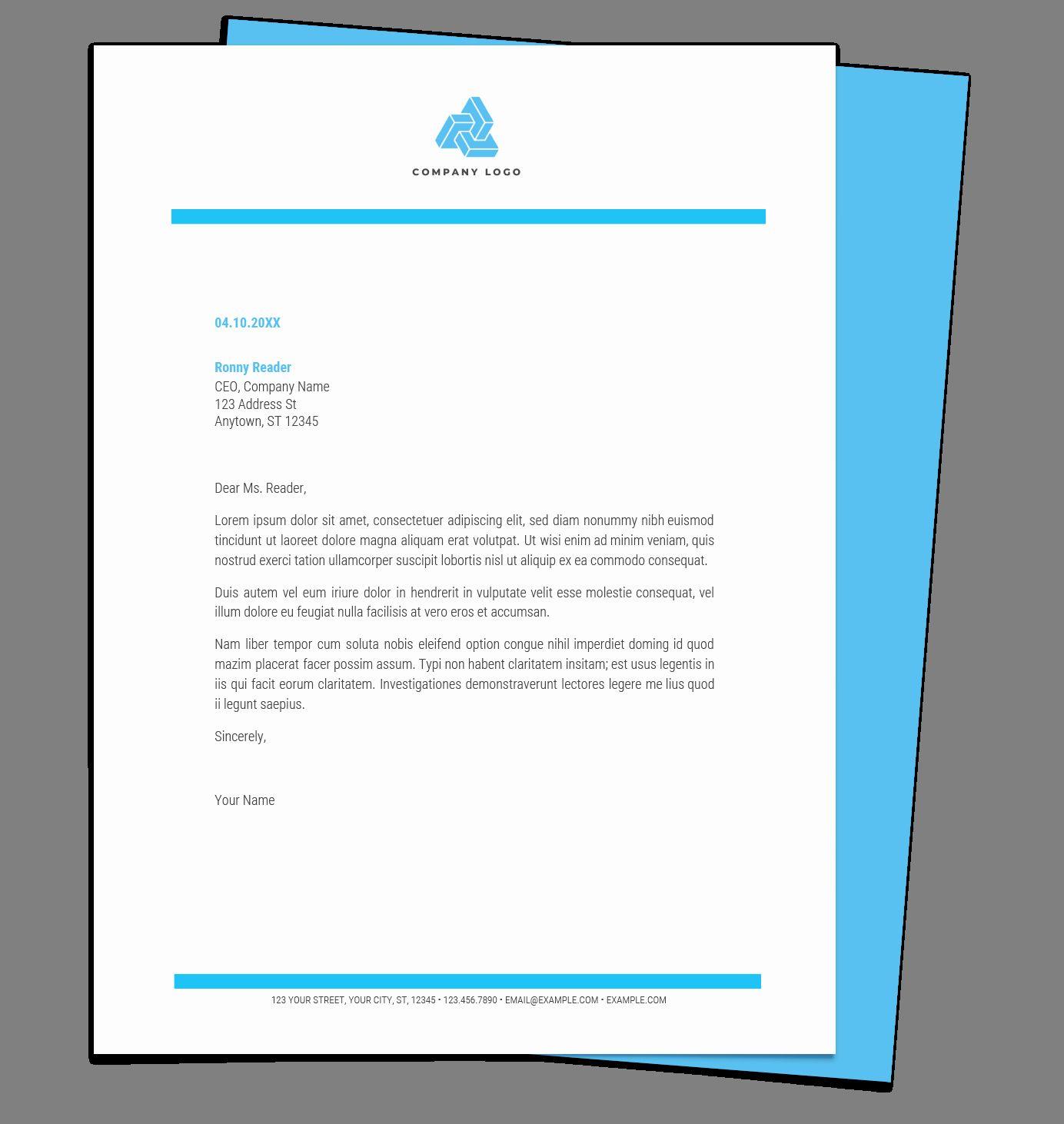 Microsoft Word Letterhead Template Elegant Free Letterhead Templates For Google Docs And W Free Letterhead Templates Letterhead Template Business Card Template - ms word letter template