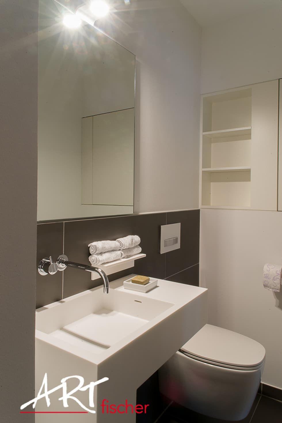 Optimale raumnutzung im kleinen bad moderne badezimmer von