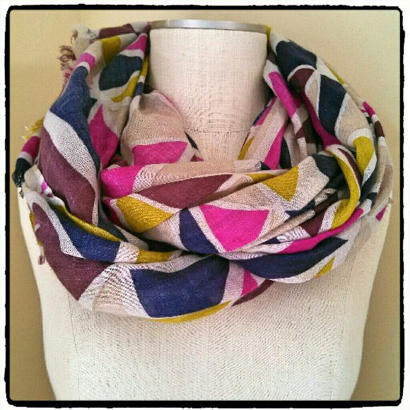 Spotted while shopping on Poshmark: Betsey Johnson Geo Print Color Block Fringe Scarf! #poshmark #fashion #shopping #style #Betsey Johnson #Accessories