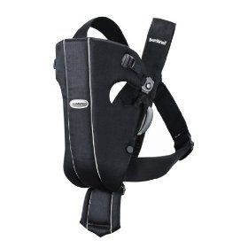 Get housework done while wearing your baby.  BabyBJorn Carrier