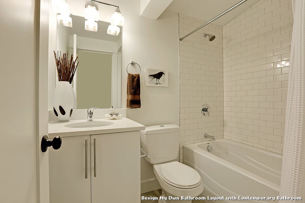 Design My Own Bathroom Layout with Contemporary Bathroom With