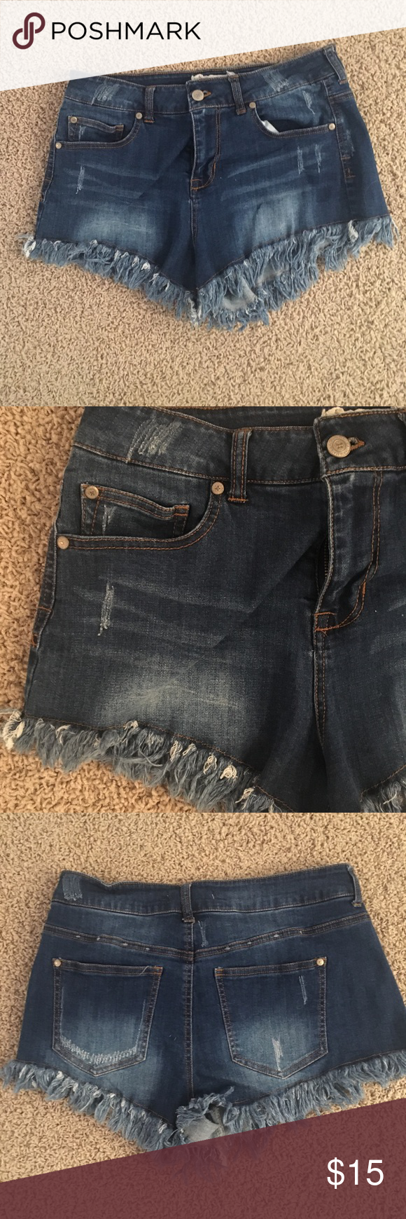Denim cut off shorts Denim cut off shorts, only worn a couple times Altar'd State Shorts Jean Shorts