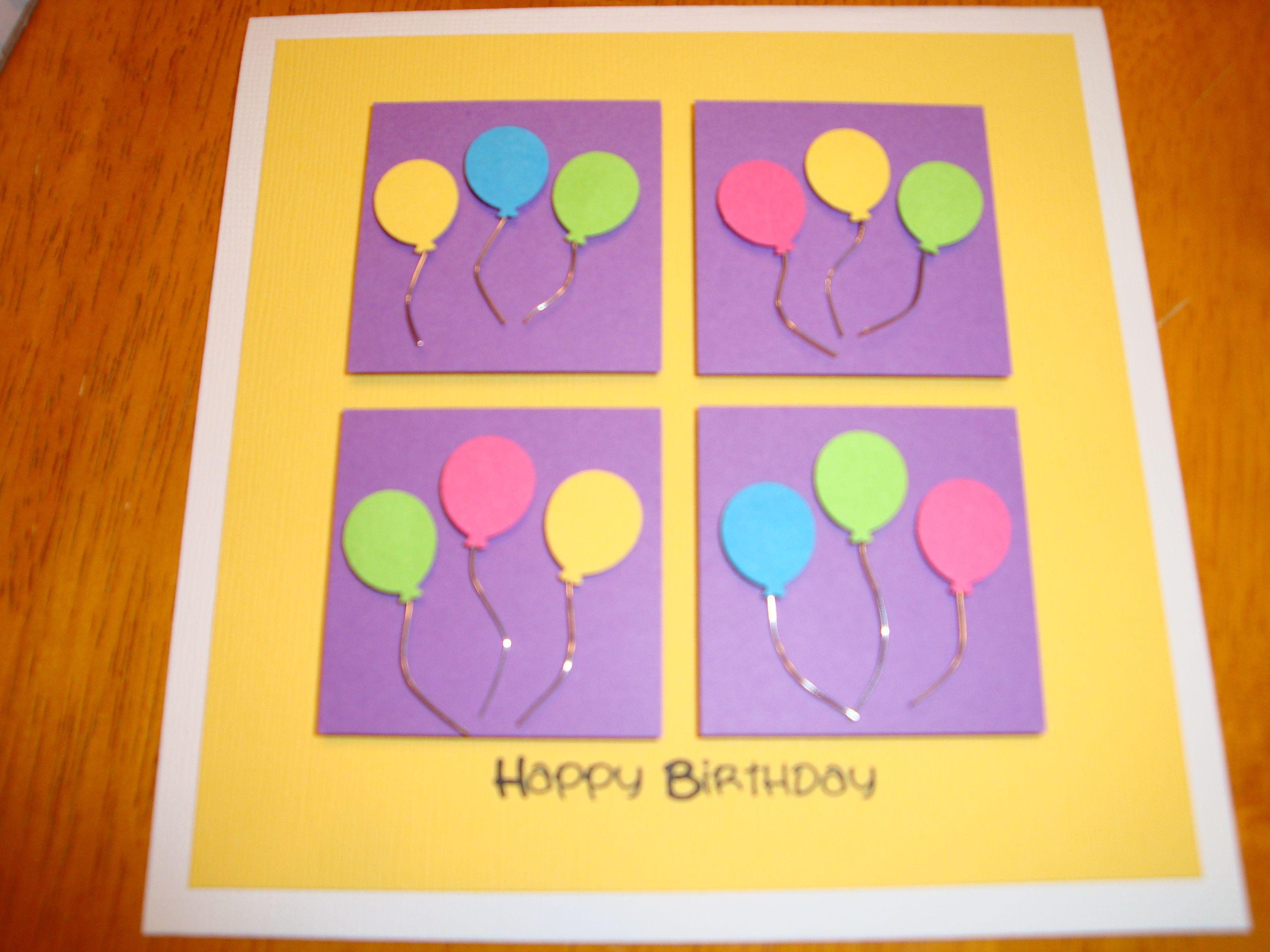 Easy Handmade Birthday Card Card Ideas Pinterest