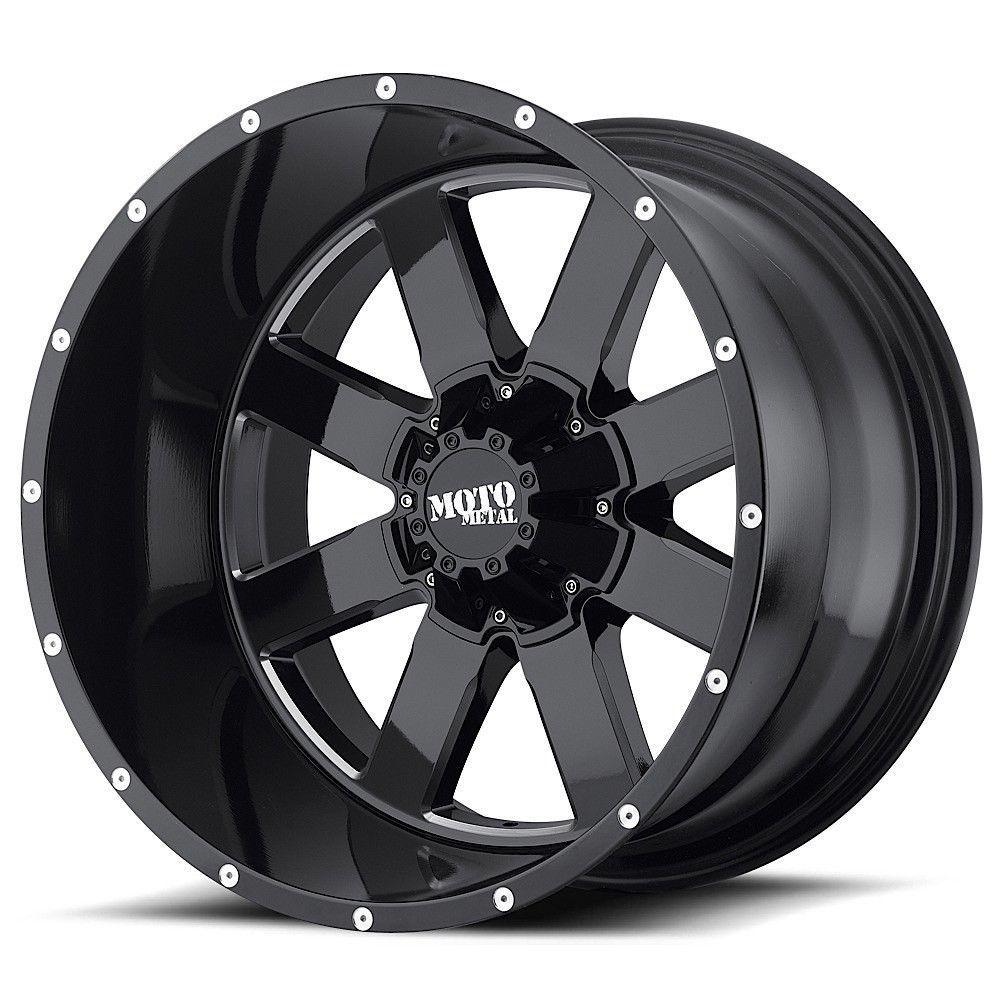 "20"" Moto Metal MO962 Black Milled Wheel 20x9 5x5.5 5x150"