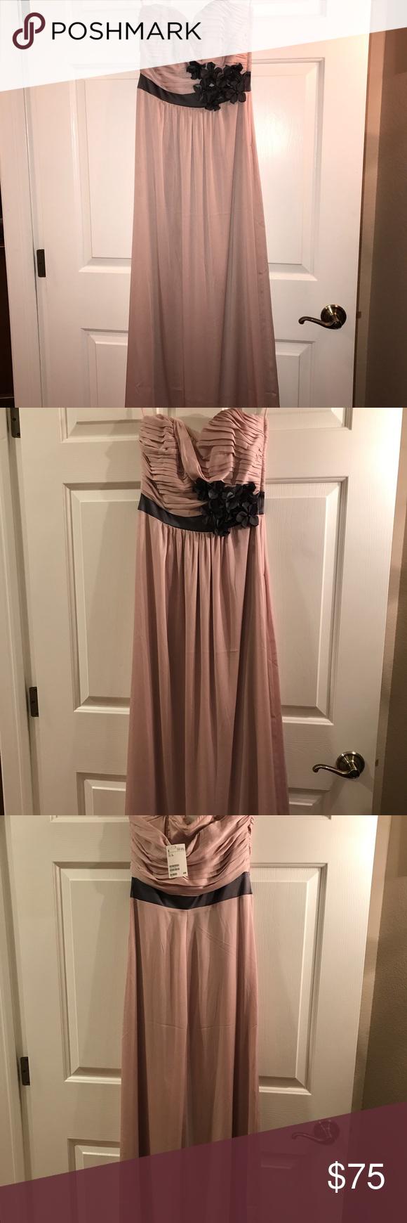 H&m dusty pink dress  Strapless flowy dusty rose colored dress Strapless dusty rose