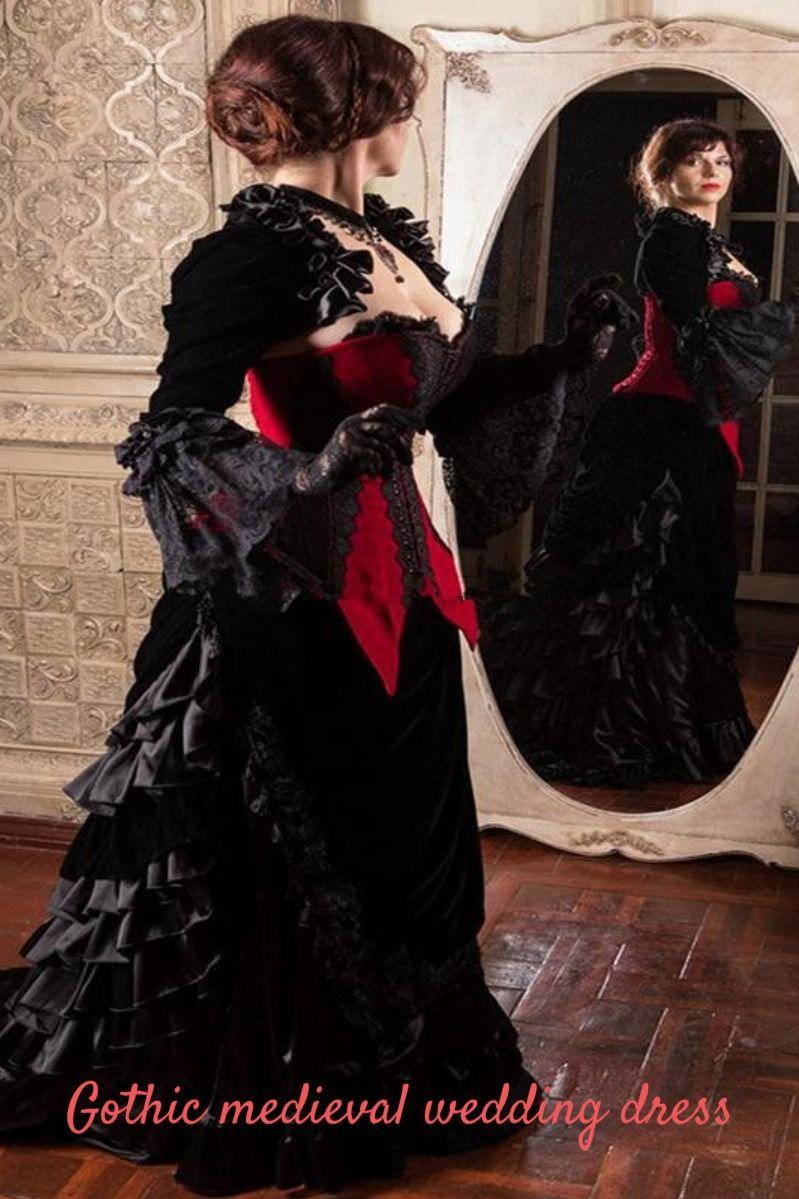Gothic Wedding Dress Gothic Wedding Dress Medieval Wedding Dress Corset Wedding Gowns [ 1199 x 799 Pixel ]