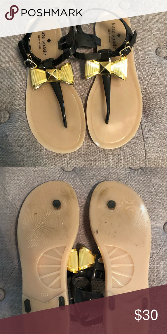 b1a6fa7c7867b5 Kate Spade Fab Bow jelly thong sandals KS jelly thongs size 8 worn maybe 3x  kate spade Shoes Sandals