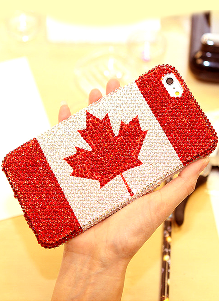 best loved c7100 0cd8c Canadian Pride Design iPhone 6s Plus case bling phone cover ...