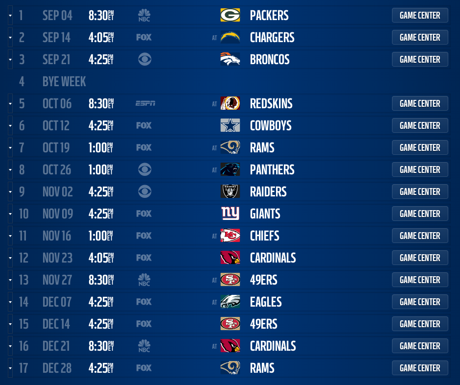 Seattle Seahawks Schedule: Seattle Seahawks 2014 Schedule Released