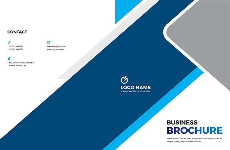 تحميل بروشور معمل تحاليل Psd مجانا Business Brochure Brochure Template Brochure