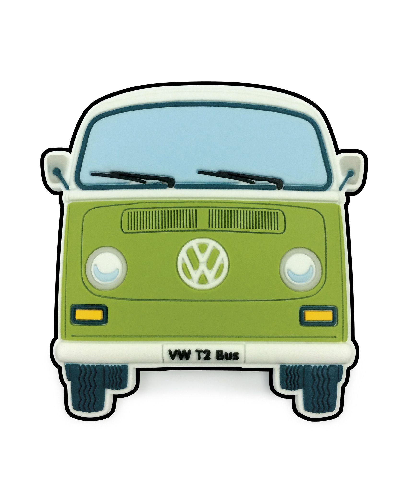 Vw T2 Bay Window Bus Magnet Front End Green Volkswagen Routan