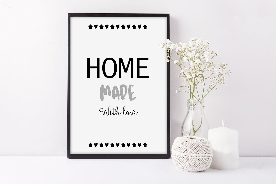Affiche Scandinave Home Affiche Home Made With Love Fait Main Avec Amour Affiche