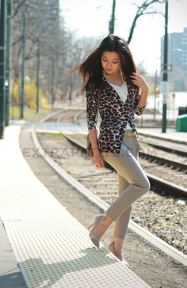 How to Style a Leopard Cardigan for Casual and Work Wear | Yellow ...