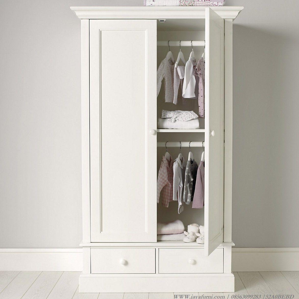 Lemari Pakaian Anak Putih 2 Pintu Dan Laci Khusus Untuk Anda Medium Motif Classic Small Wardrobe The White Company Childrens Wardrobes Bedroom