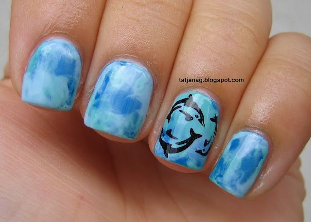 Pin by Sarah Saurus on Hair/Make-up/Nails. | Dolphin nails ...