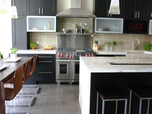 Love The Waterfall Counters & Kit Table Chicago Kitchen Design Amusing Chicago Kitchen Design Review