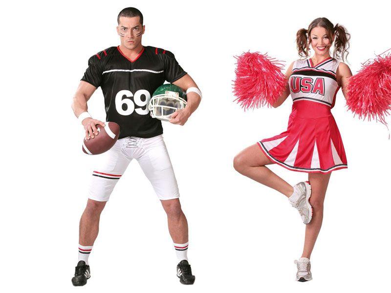 Pareja Fútbol Americano Disfraces Parejas Caseros Disfraces Parejas Disfraces