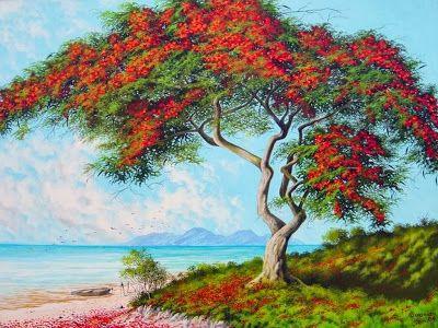 Paisajes Naturales Del Campo Antonio Comonian 1954 Brasil Pinturas Hermosas Pinturas De Arboles Paisaje Para Pintar