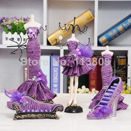 Victorian Mannequin Jewelry Holder Necklaces Mannequin Dress Doll Display Rack Elegant Jewelry Earring Elegant Jewelry Doll Jewelry Necklace Jewelry Display
