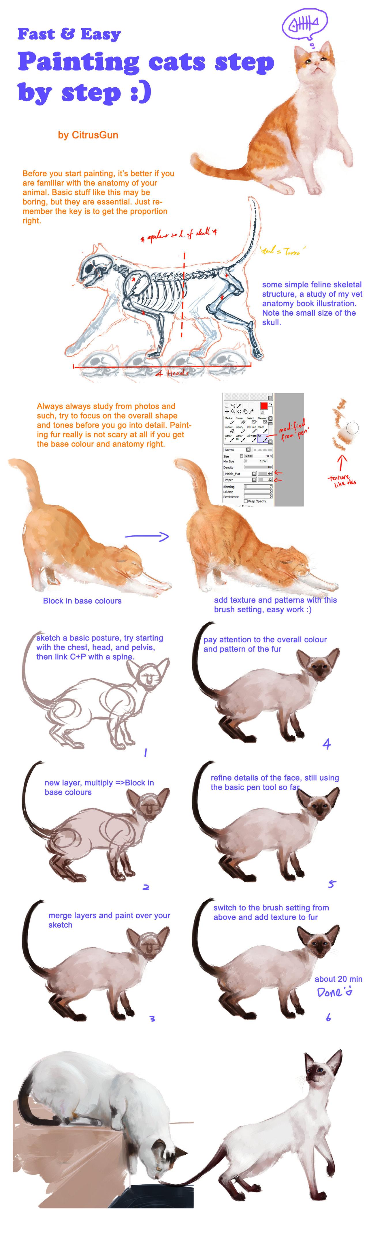 Painting cats tutorial by CitrusGun.deviantart.com on @deviantART ...