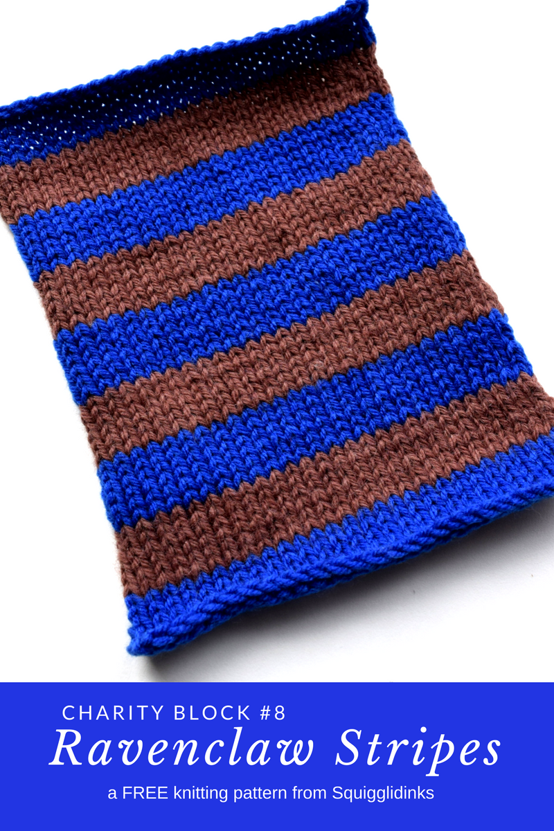 Charity Block #8: Ravenclaw Stripes | Ravenclaw Tower | Pinterest ...