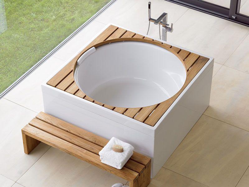 Freistehende Holz Badewanne Hinoki Holzkollektion. die besten 25+ ...