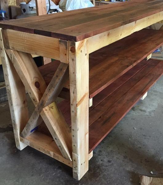Farmhouse Kitchen Work Table: Paletten Küche Insel, Outdoor