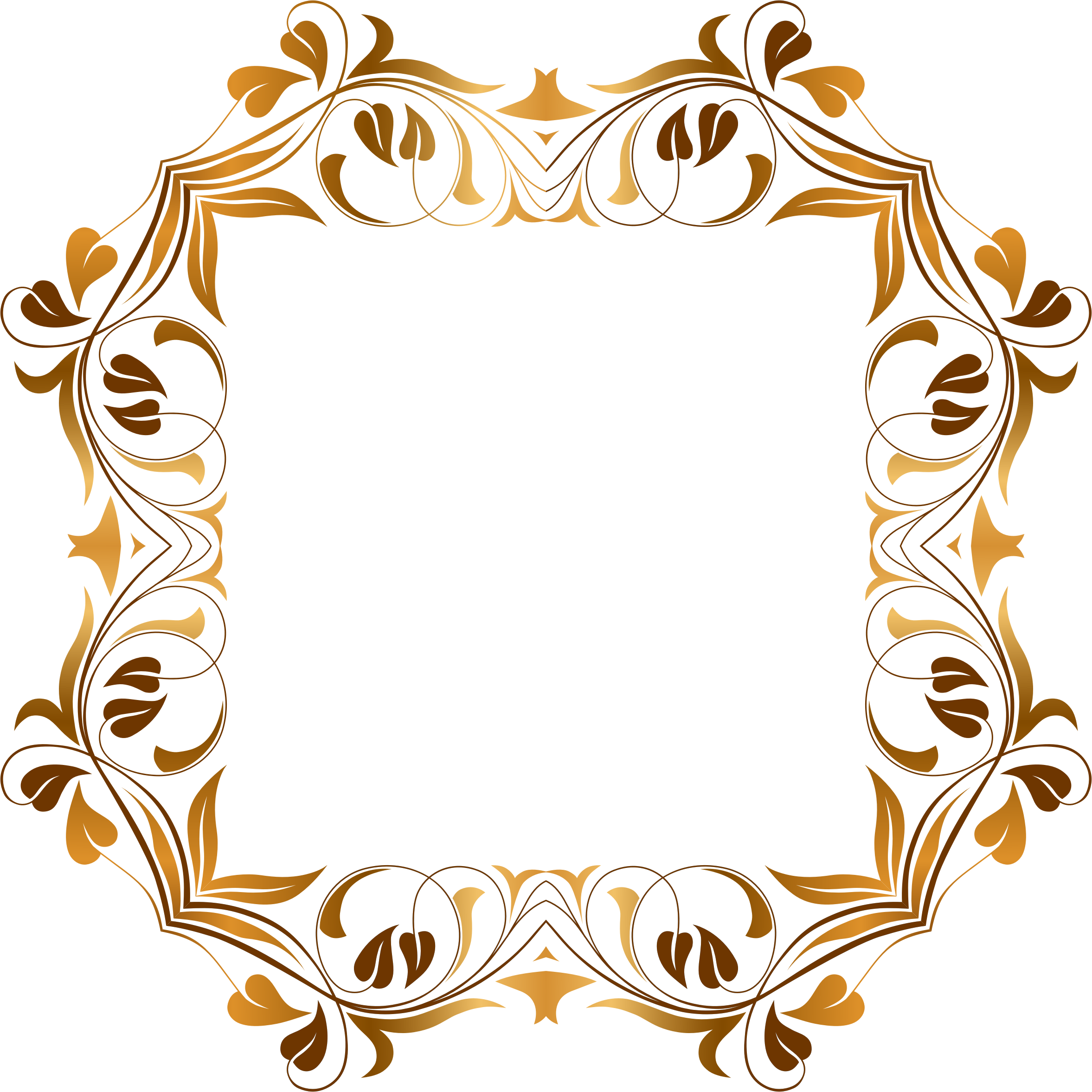 Floral Flourish Frame By Gdj Floral Frame On Openclipart
